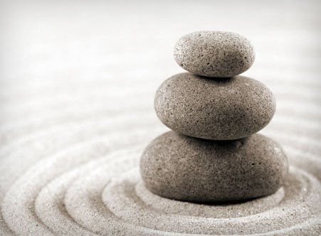 3 stones balanced on top of each other.