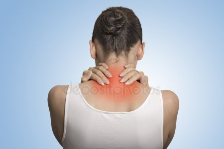 Woman in pain from Fibromyalgia or Chronic Fatigue